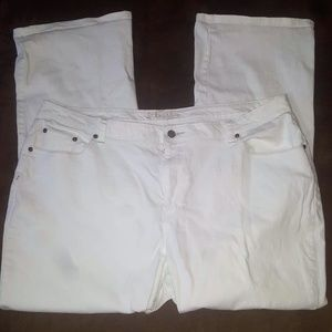 White Boot cut pants 24W
